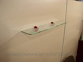 Полка 4 мм стеклянная прозрачная 45х10 см