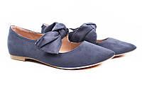 Туфли женские стильные Vices эко-замш, цвет синий (комфорт, каблук)