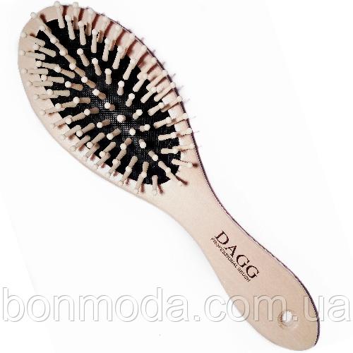 Расческа деревянная для волос массажная Dagg