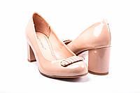 Туфли женские лаковые (пудра) Foletti