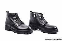 Ботинки женские кожаные Deenoor (ботильоны низкие комфортные,байка)