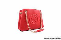 Женская элегантная сумка GUCCI красного цвета
