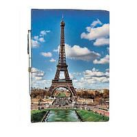 Блокнот на резинке Rainbow Эйфелевая башня А6