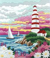 Набор для вышивки нитками Лучезарный маяк