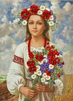 Набор для вышивания лентами Украиночка
