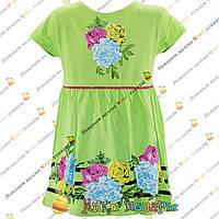 Салатовое платье для девочек от 2 до 6 лет (4121-5)
