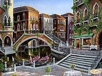 """Вишивка бісером """"Венеціанськими вуличками"""" 30х40"""