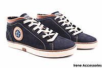 Стильные ботинки мужские Konors демисезонные нубук синие (кроссовки мужские, комфорт, синий, Украина)