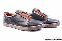 Туфли мужские Konors кожаные черные (мокасины мужские, комфорт, черный, Украина)