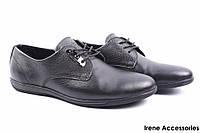 Туфли мужские Konors классические натуральная кожа черные (мокасины мужские, комфорт, черный, Украина)