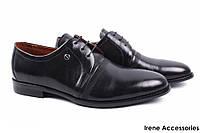 Туфли мужские Basconi натуральная кожа цвет черный