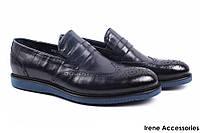 Мужские туфли Basconi натуральная кожа цвет синий