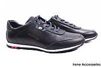 Мужские туфли Philipp Plein натуральная кожа цвет синий (мокасины мужские, кроссовки, платформа, Турция)