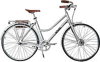 Электровелосипед ROVER Vintage Lady Brushed alu (матовый алюминий)