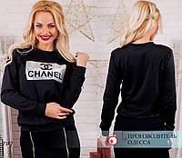 Свитшот Шанель R-7167 черный