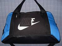 Багажная сумка 013670 малая (50х32х20, см) черная с синим спортивная дорожная текстиль кожзам