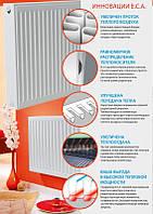 Высота 500 Радиатор стальной  E.C.A. 500/33/400 (K)