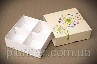 Коробка-пенал универсальная для конфет, печенья, зефира, мелованный картон