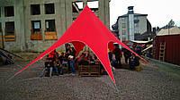 Палатка тент Звезда, 10 метров, Красный на 20 человек