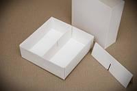 Коробка универсальная для конфет, печенья, зефира, мелованный картон, Белая
