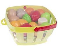 Набор Ecoiffier Корзина с продуктами салатовый (000966-2)