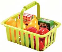 Корзина для супермаркета с продуктами Ecoiffier красный (000981-1)