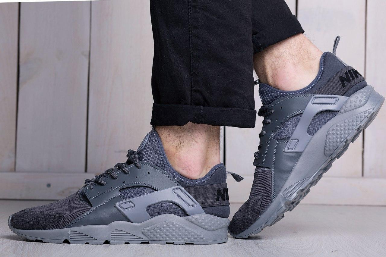 Мужские кроссовки Nike Air Huarache Ultra Gray (найк хуарачи ... 209d09218bcb4