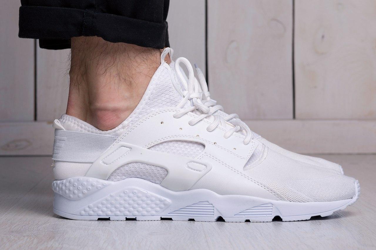 Мужские кроссовки Nike Air Huarache Ultra White (найк хуарачи, реплика)  (реплика) 3057f6a6be6