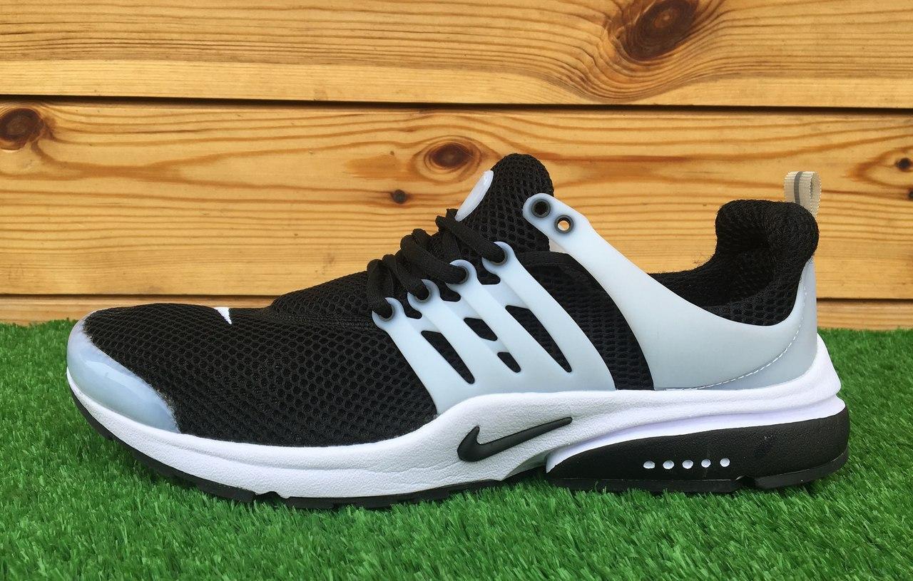 ce1ea5d0e6e3be Кроссовки мужские летние сетка Nike Air Presto Black\White (найк аир престо)  (реплика)