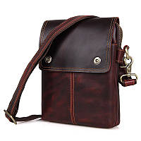 "Мужская сумка ""Cross Body-3 brown"" из натуральной кожи"
