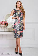 Женский летний комплект платье и жакет больших размеров