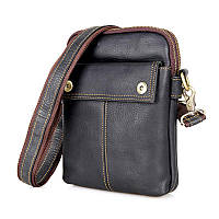 "Мужская сумка ""Cross Body-4 black"" из натуральной кожи"