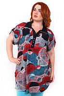 Женская легкая летняя блузка батал 54-56, 58-60, 62-64, 66-68