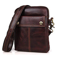 """Мужская сумка """"Cross Body-5 brown"""" из натуральной кожи"""
