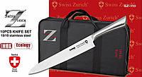Большой набор кухонных ножей Swiss Zurich sz-110 в чехле, фото 1