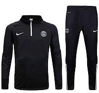Спортивный костюм Nike, ПСЖ (черный). Футбольный, тренировочный. Сезон 16/17, фото 1