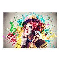 Светящиеся Картины Startonight Цветная Музыка Абстракция Печать на Холсте Декор стен Дизайн Интерьер