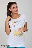 Комфортная футболка для беременных Lillit ocean