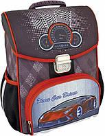 """Качественный школьный ранец каркасный 14,5"""" Rally Racing 704 12 л Cool for school CF85800, серый"""