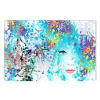 Светящиеся Картины Startonight Абстрактные Лица Печать на Холсте Декор стен Дизайн Интерьер