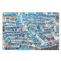 Светящиеся Картины Startonight Зимний Городской Пейзаж Печать на Холсте Декор стен Дизайн Интерьер