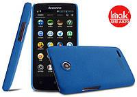 Пластиковая накладка IMAK Cowboy series для Lenovo A820 (+ пленка) голубой
