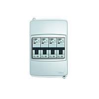 Пластиковый щиток навесной K-1/6для 6 модульных автоматических выключателей без крышки
