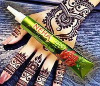 Хна для тату (мехенди) Neha натуральная в тюбике 25 грамм