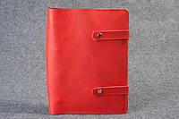 Кожаная папка-скоросшиватель для документов красная