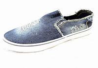 Мокасины мужские джинсовые опт р. 41-46, 12 пар в упаковке, фото 1