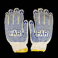 Перчатки FAR хозяйственные рабочие с ПВХ точкой