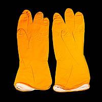 Перчатки хозяйственные резиновые латексные Household Gloves 12 пар/уп M L XL