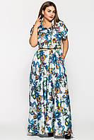 Длинное нежное платье Алена белое, фото 1