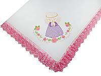 Крыжма для крещения ребенка с вышитым ангелом